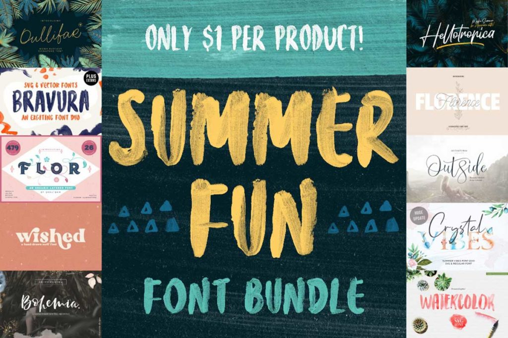 The Summer Fun Font Bundle