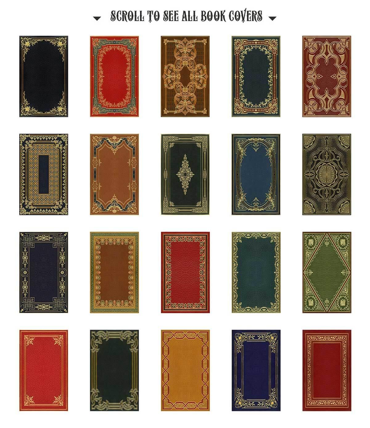 20 Decorative Book Covers