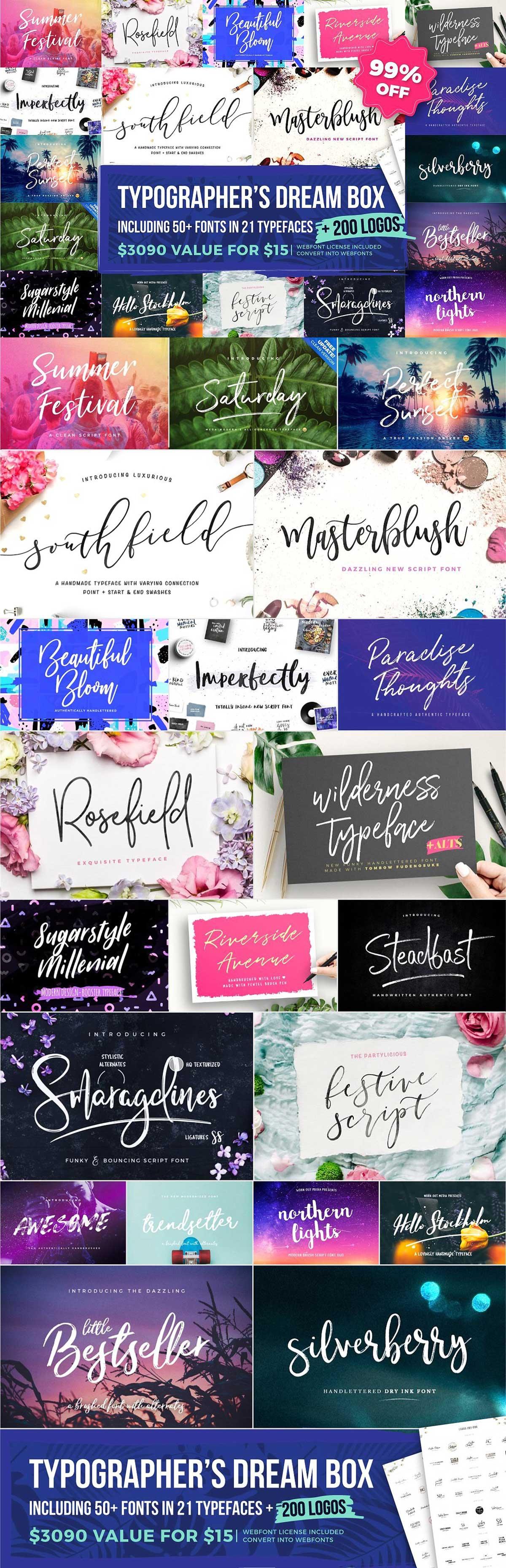 Typographer's Dream Box + 200 Logos