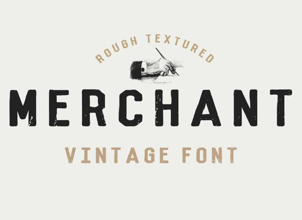 merchant vintage font