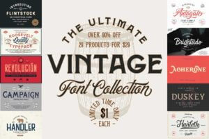 The Ultimate Vintage Font Collection