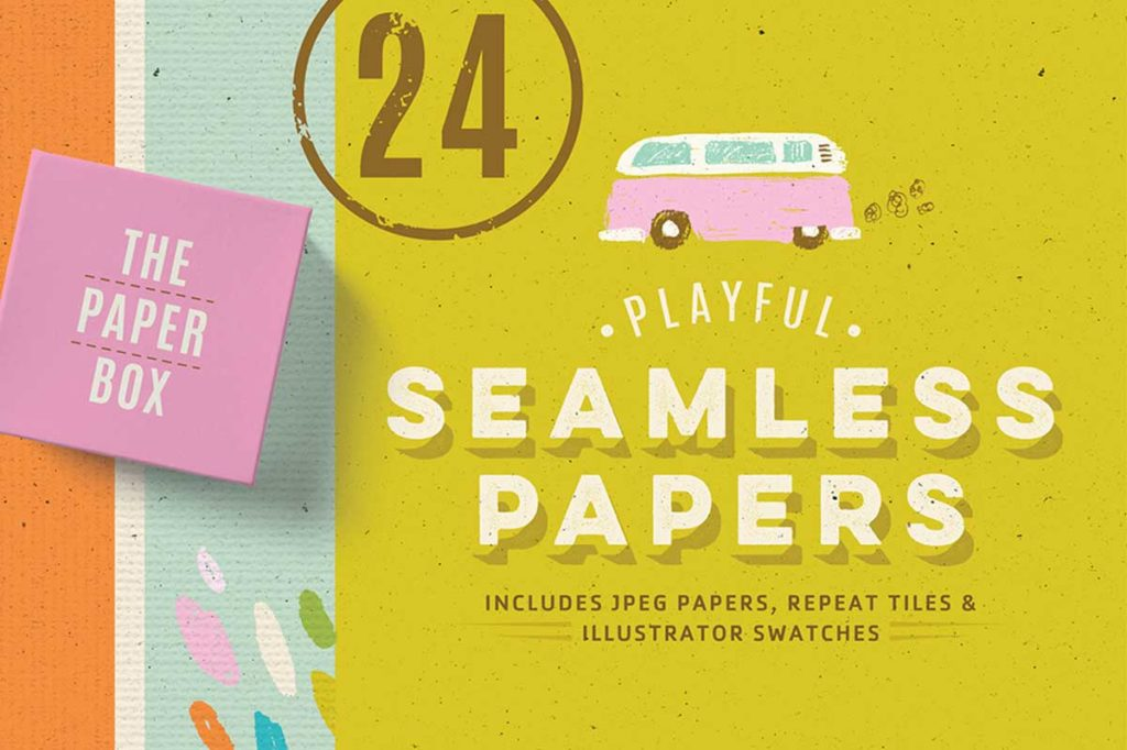 PLAYFUL SEAMLESS PAPER TEXTURE PACK