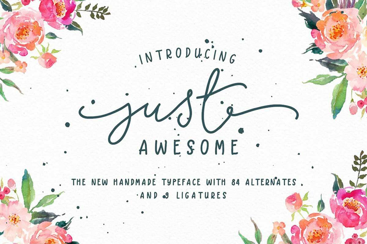 Just Awesome Typeface