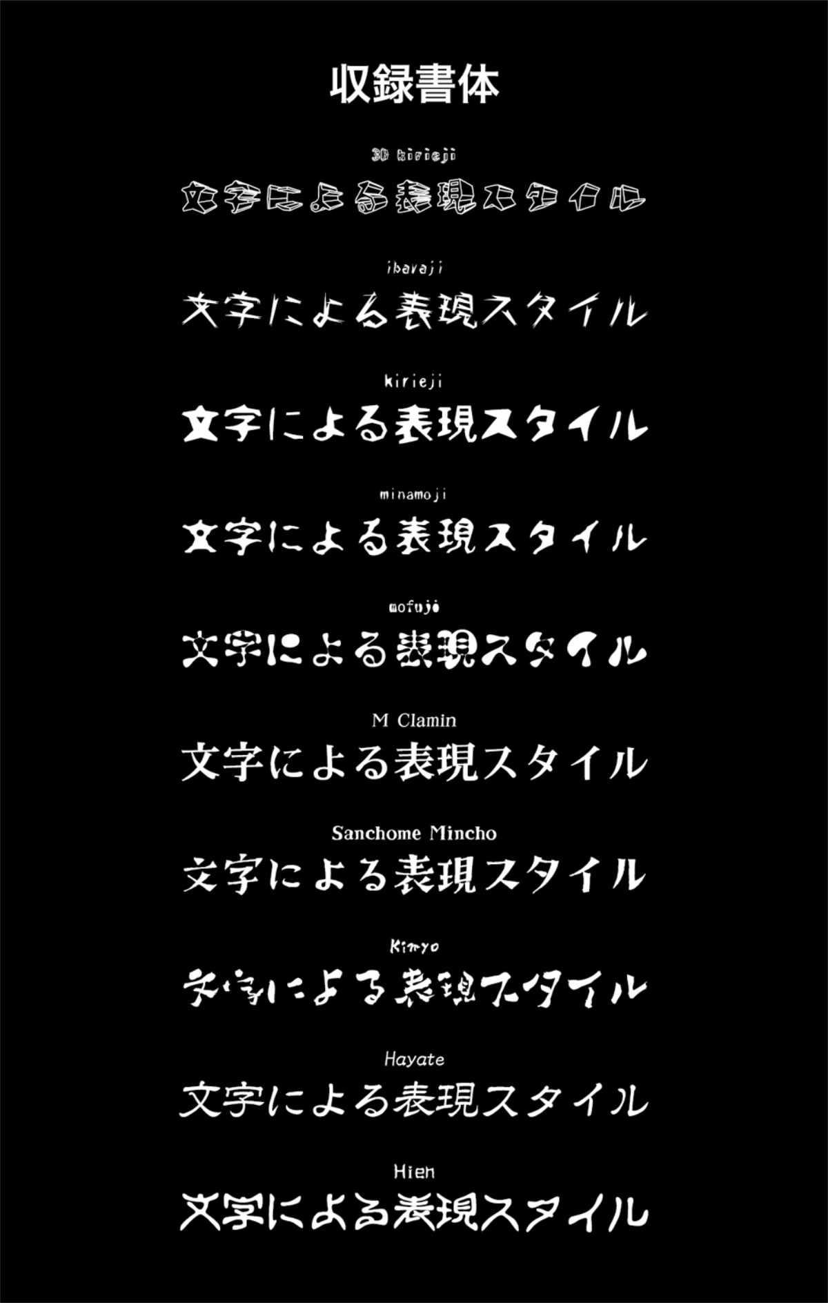 楽しい!個性派日本語フォント集