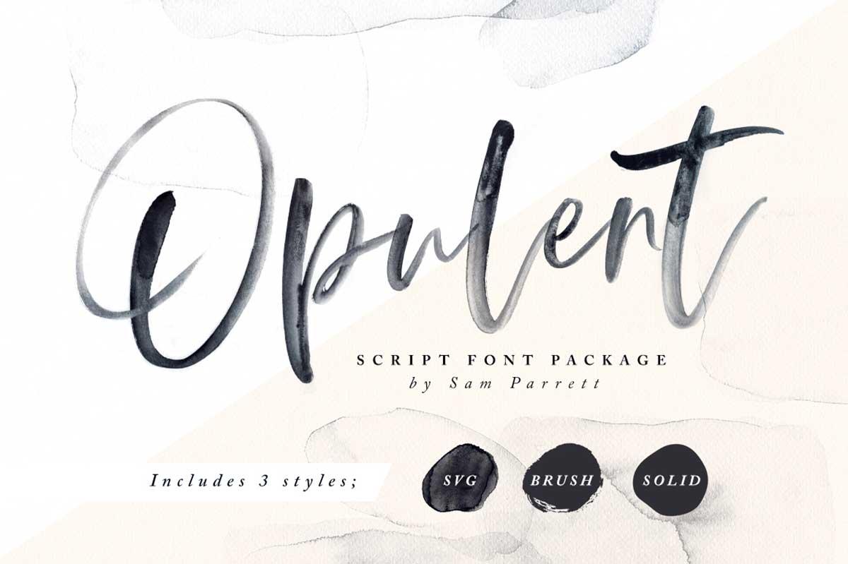 Opulent + SVG Font
