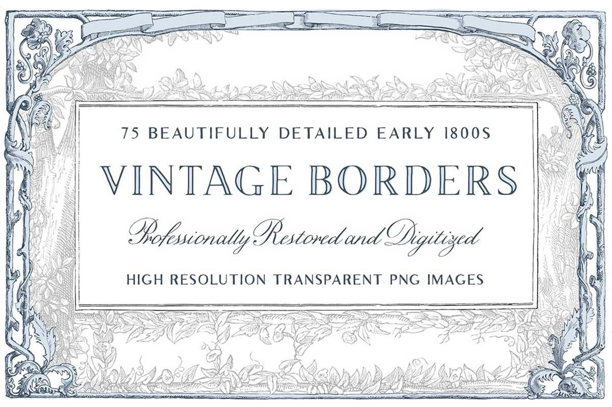 75 VINTAGE ORNATE BORDERS