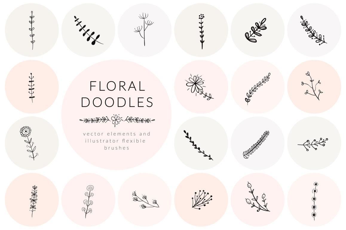 Hand Drawn Floral Doodles Vol.3