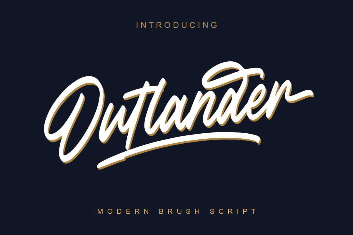 Outlander Brush Script