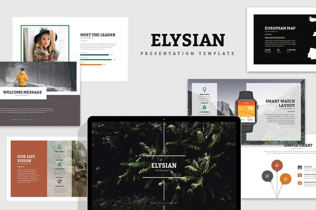 Elysian : Nature Lookbook Powerpoint