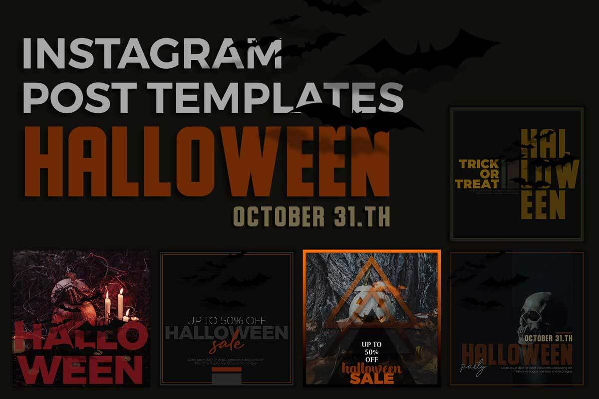 Halloween Instagram Post Templates