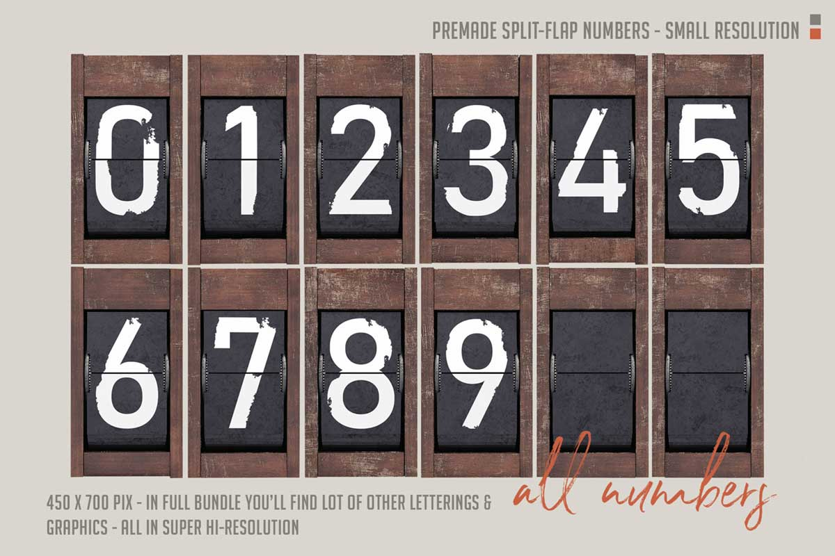 Free Split-Flap Numbers