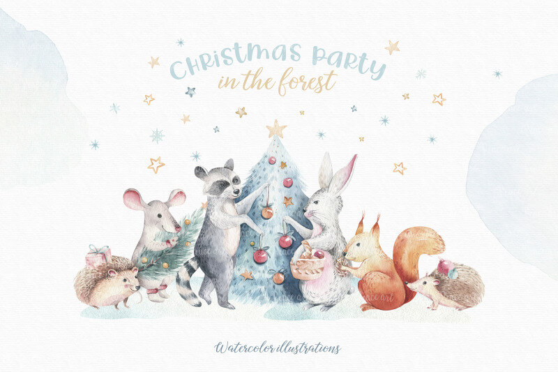 Christmas Party in the forest