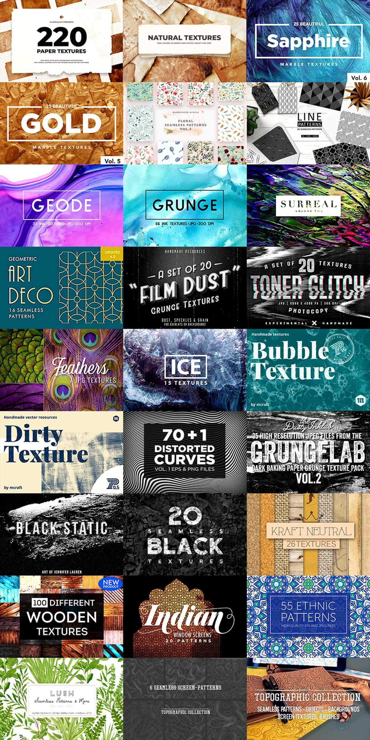 The Spectacular Textures and Patterns Collection (Rerun)