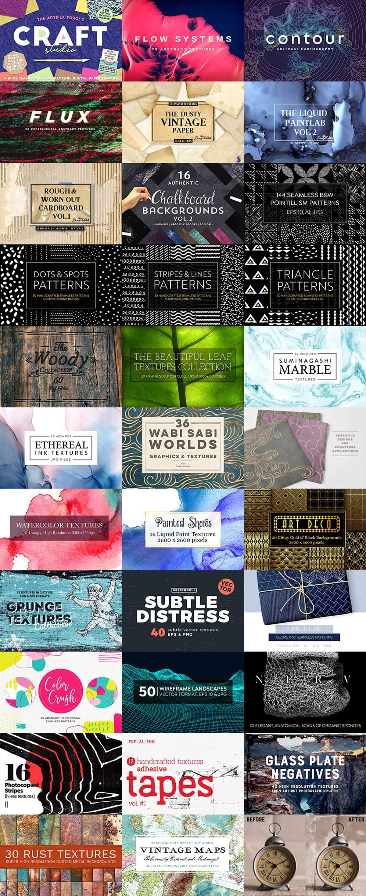 Totally Extensive Textures and Patterns Bundle (Rerun)