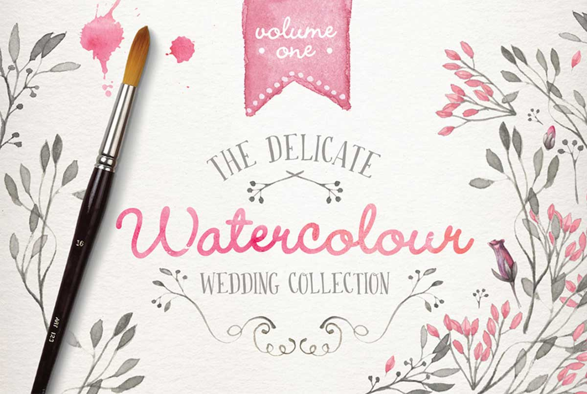 Watercolor Wedding Collection Vol. 1