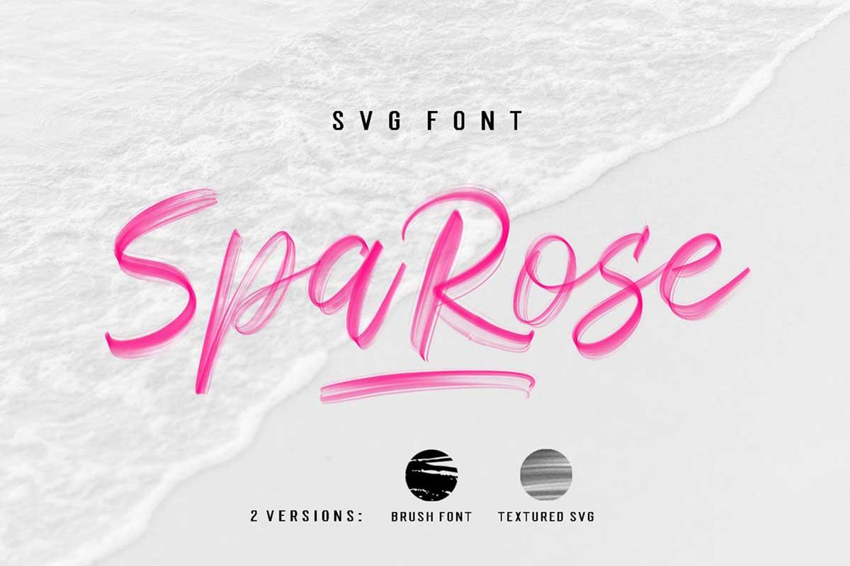 Sparose SVG Font