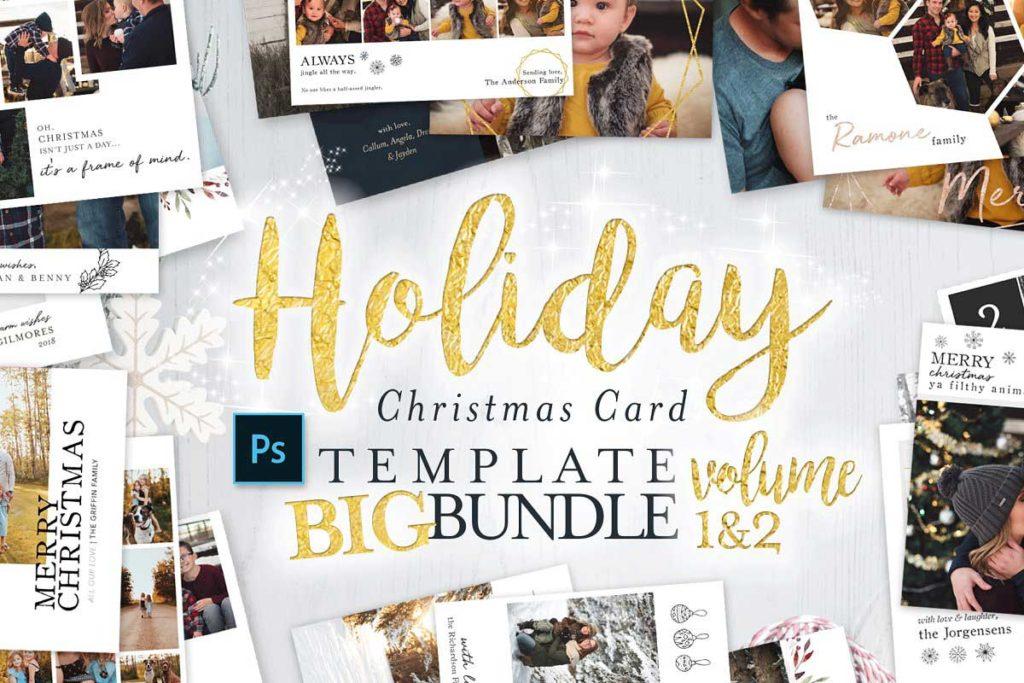 Holiday Christmas Card Big Bundle