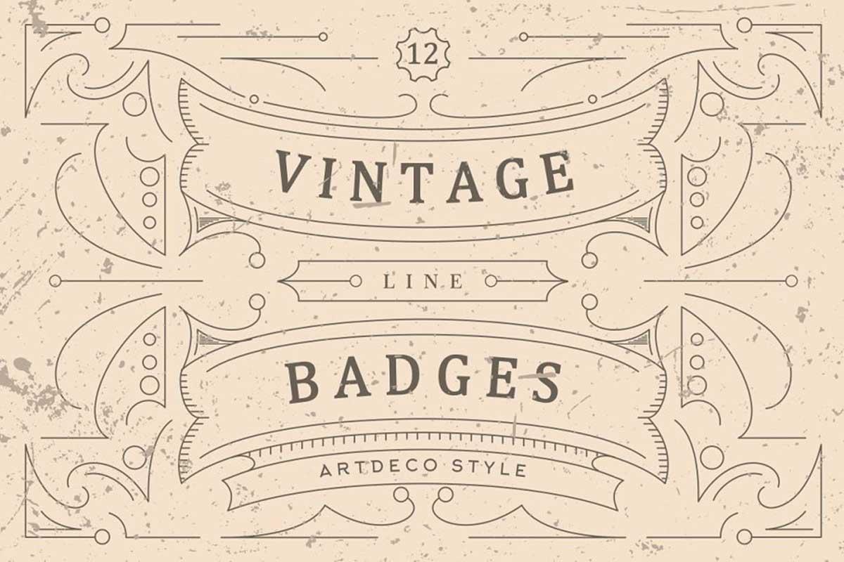 Vintage Line Badges