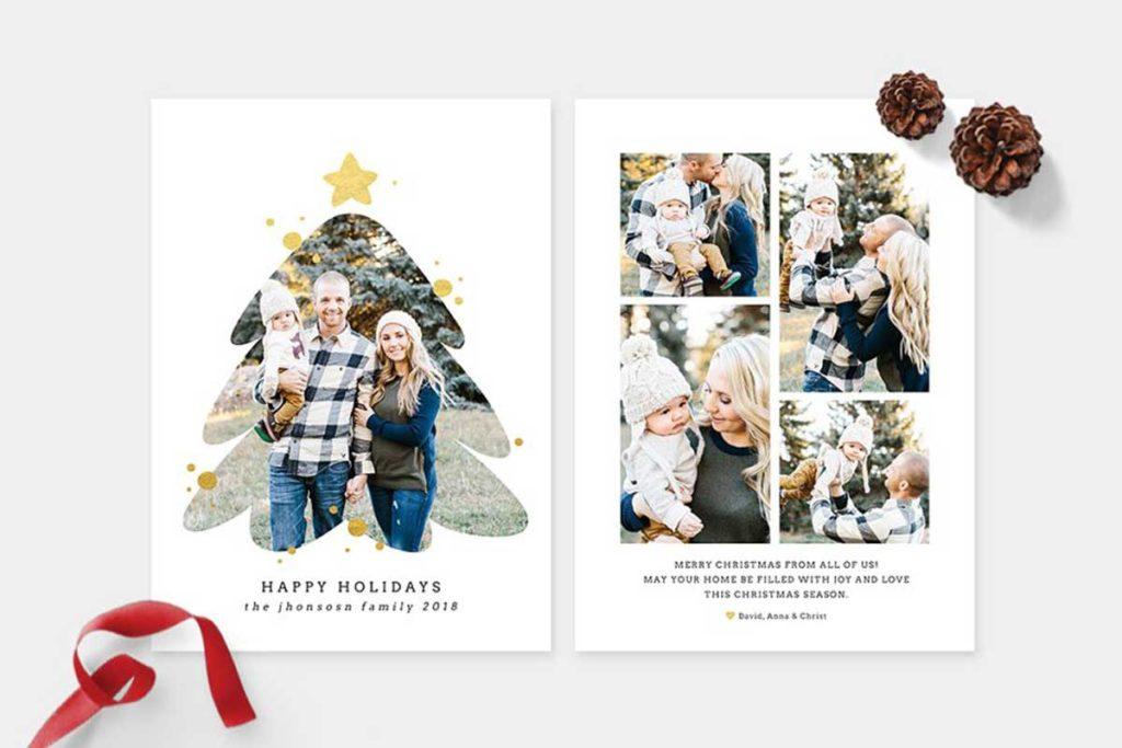 Christmas Photo Card Template -CD092