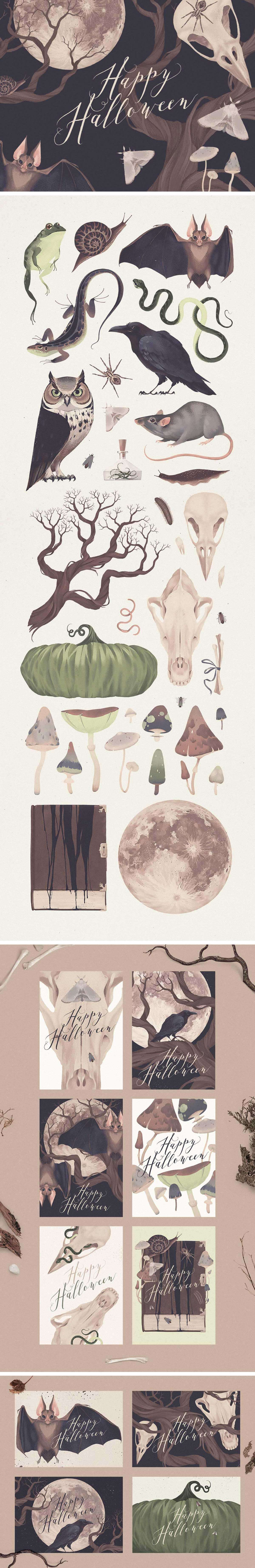 Natural Halloween Graphic Set