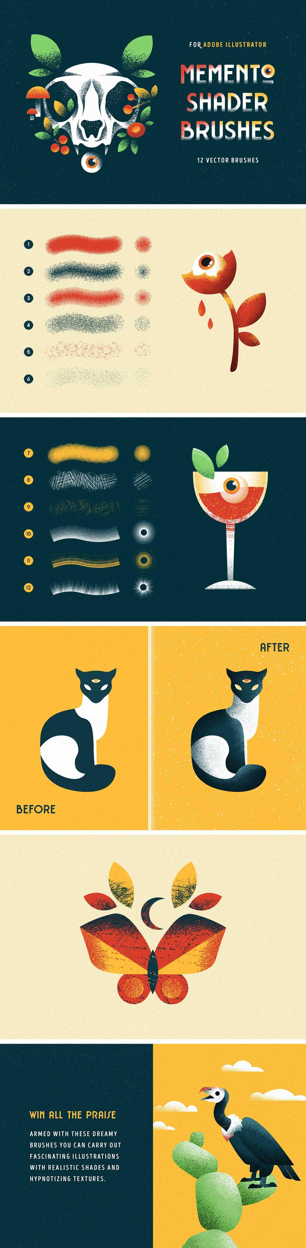 Memento Illustrator Brushes