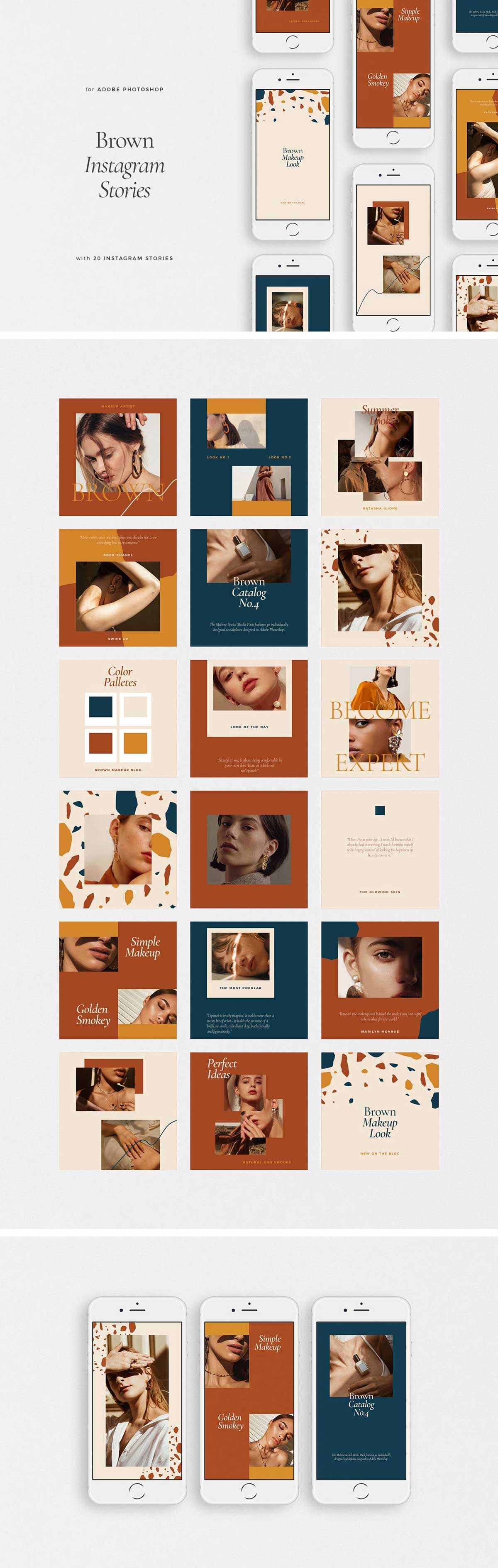 Brown Instagram Templates