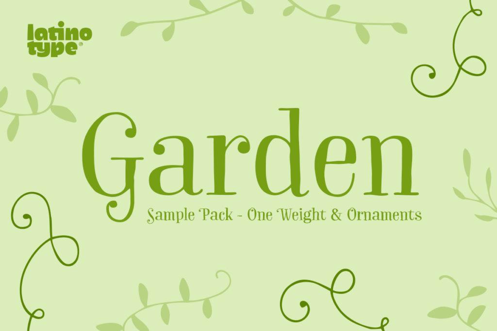 Garden Font Family Sample