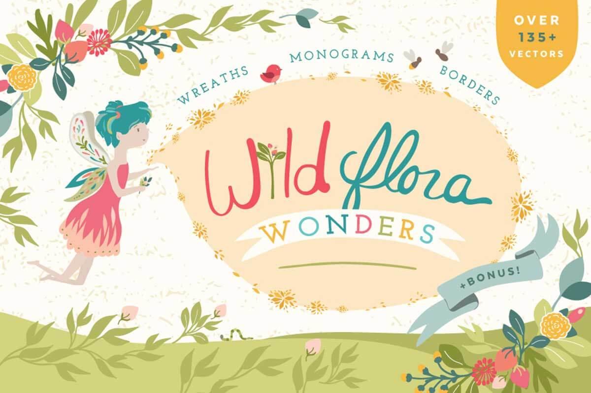 Wild Flora Wonders: Floral Vectors