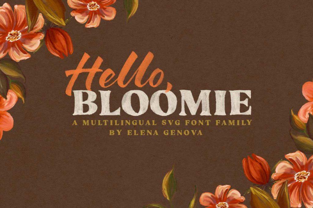 筆のタッチを忠実に再現したSVGフォントファミリー:HELLO BLOOMIE – SVG FONT FAMILY