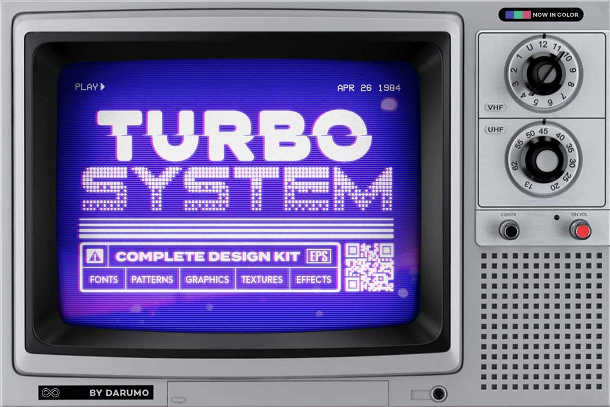 レトロSF風デザイン制作キット:TURBO SYSTEM