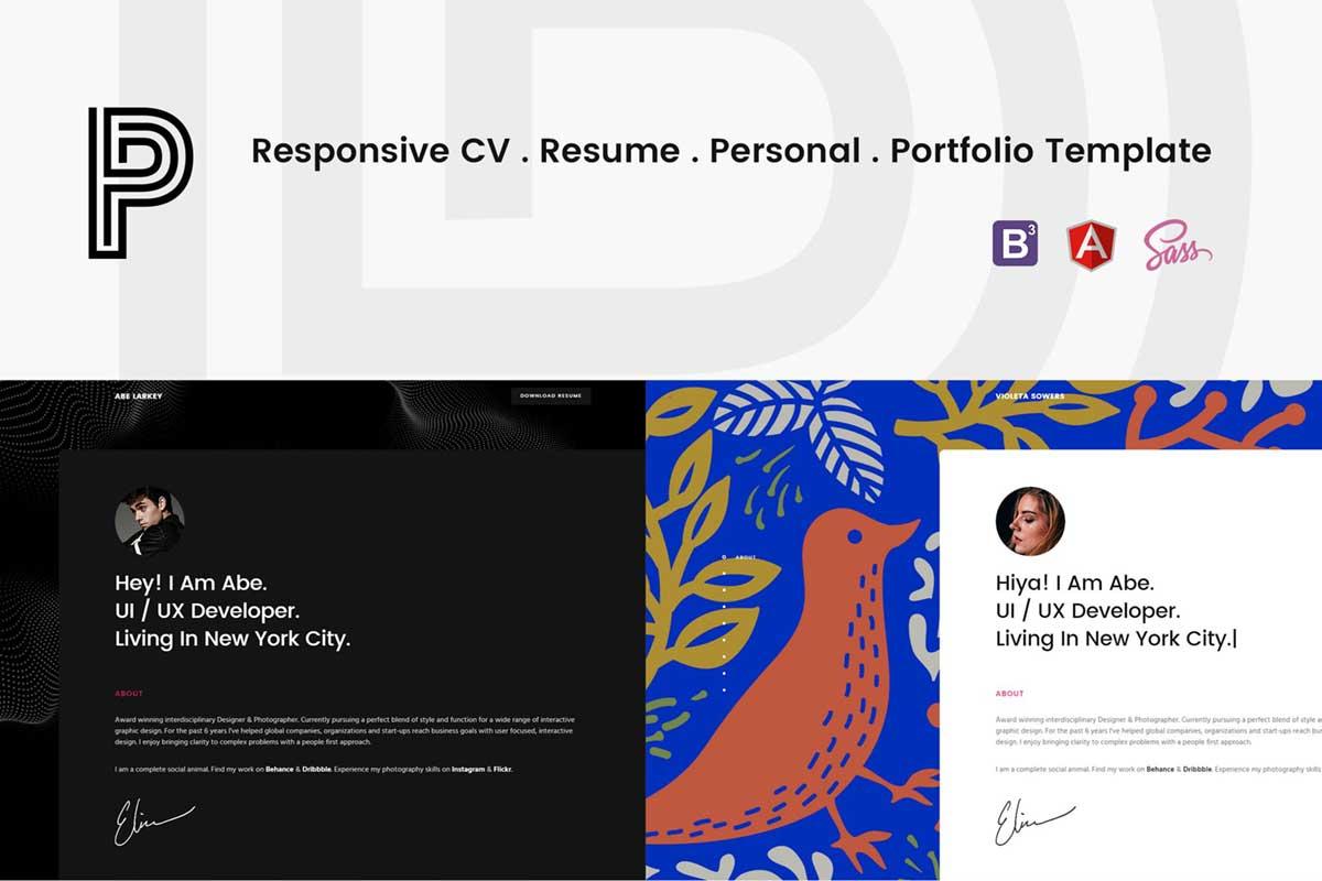 Penelope - Responsive CV / Resume Template
