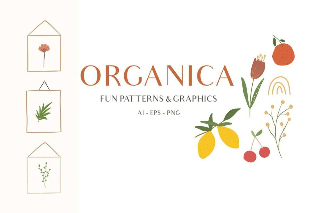 Abstract Shapes & Fun Fruits