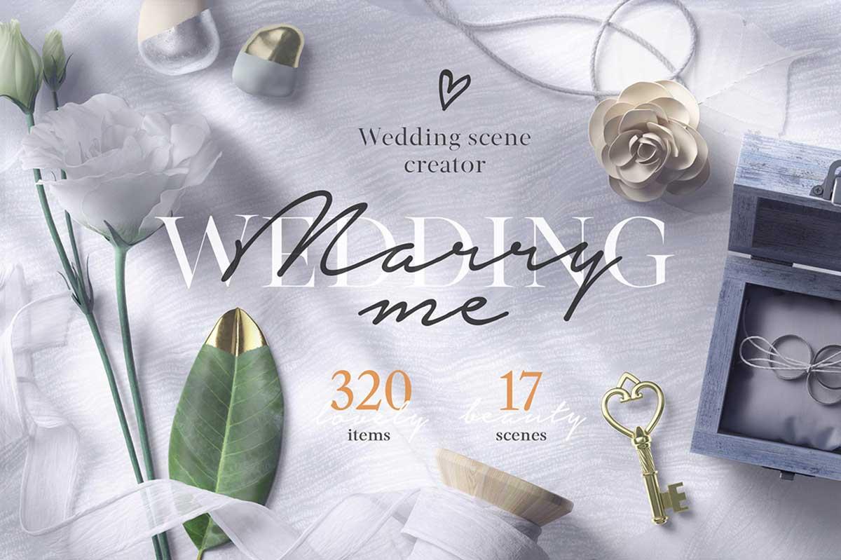 WEDDING MOCKUP SCENE CREATOR