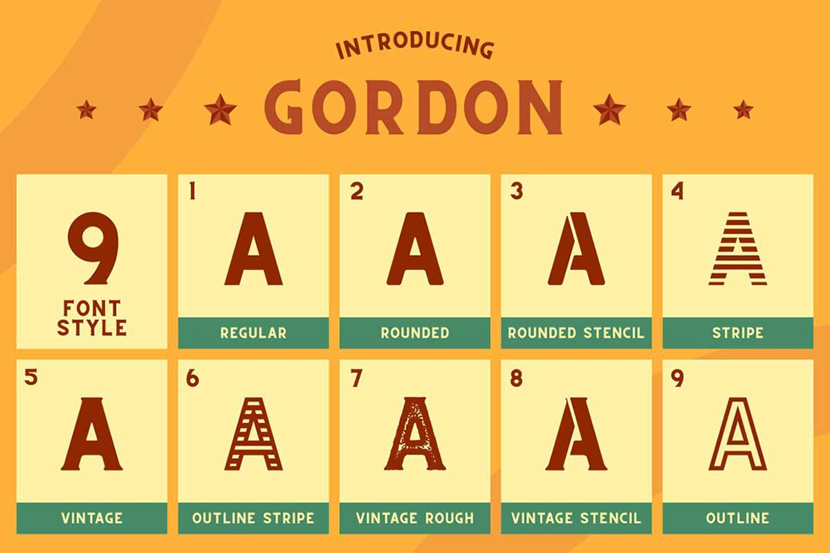 CS Gordon Font Family and Extras