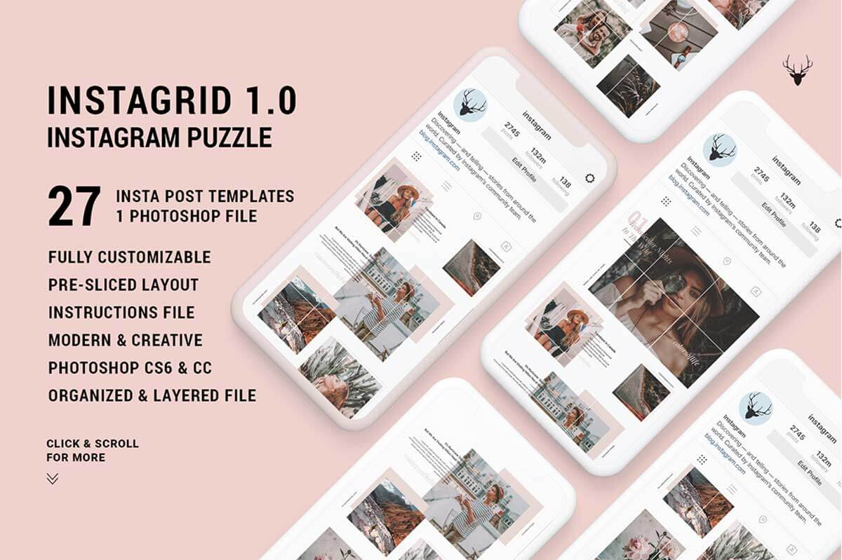 InstaGrid 1.0 – Unique Instagram Puzzle Template