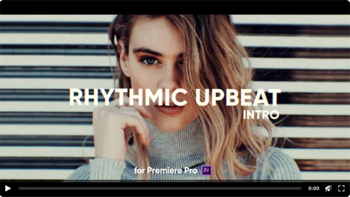 Rhythmic Upbeat Intro Premiere Pro