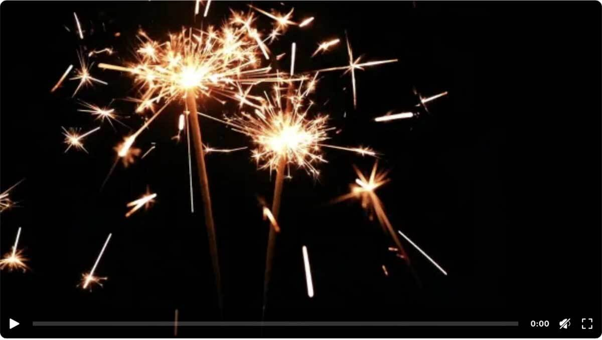 Sparklers. Celebration Lights.
