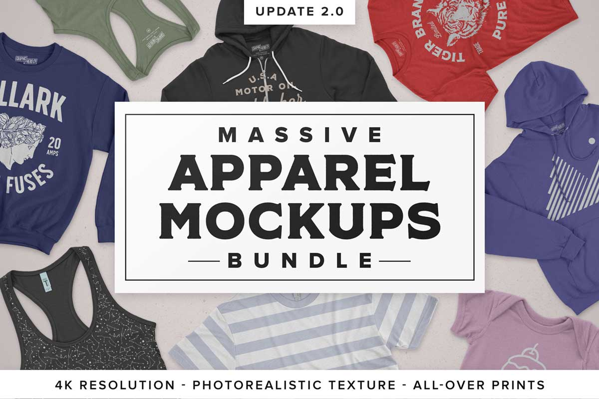 Massive Apparel Mockups Bundle
