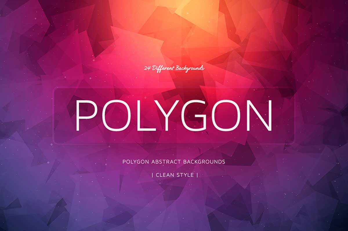 24 Polygon Colorful Backgrounds