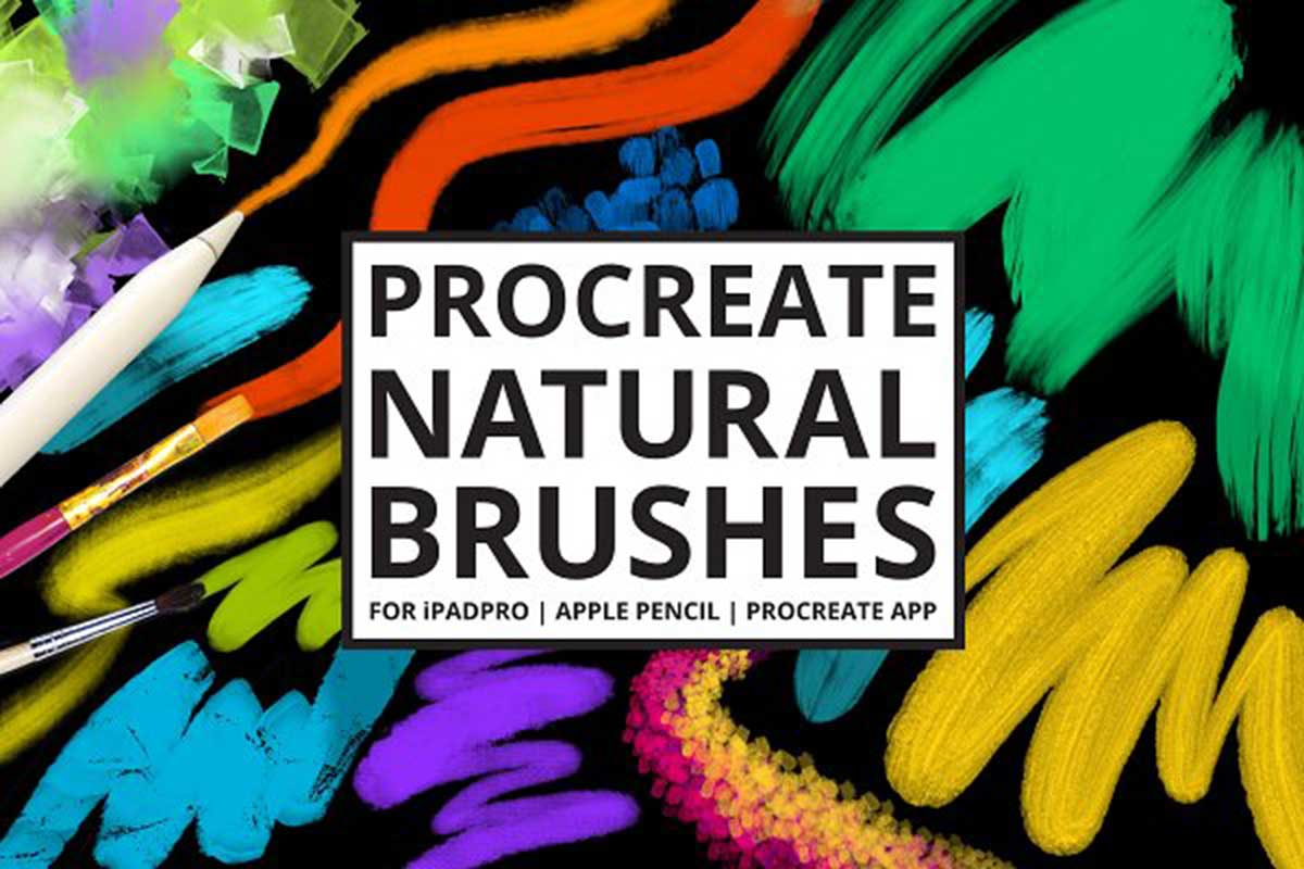 30 Procreate Natural Media Brushes