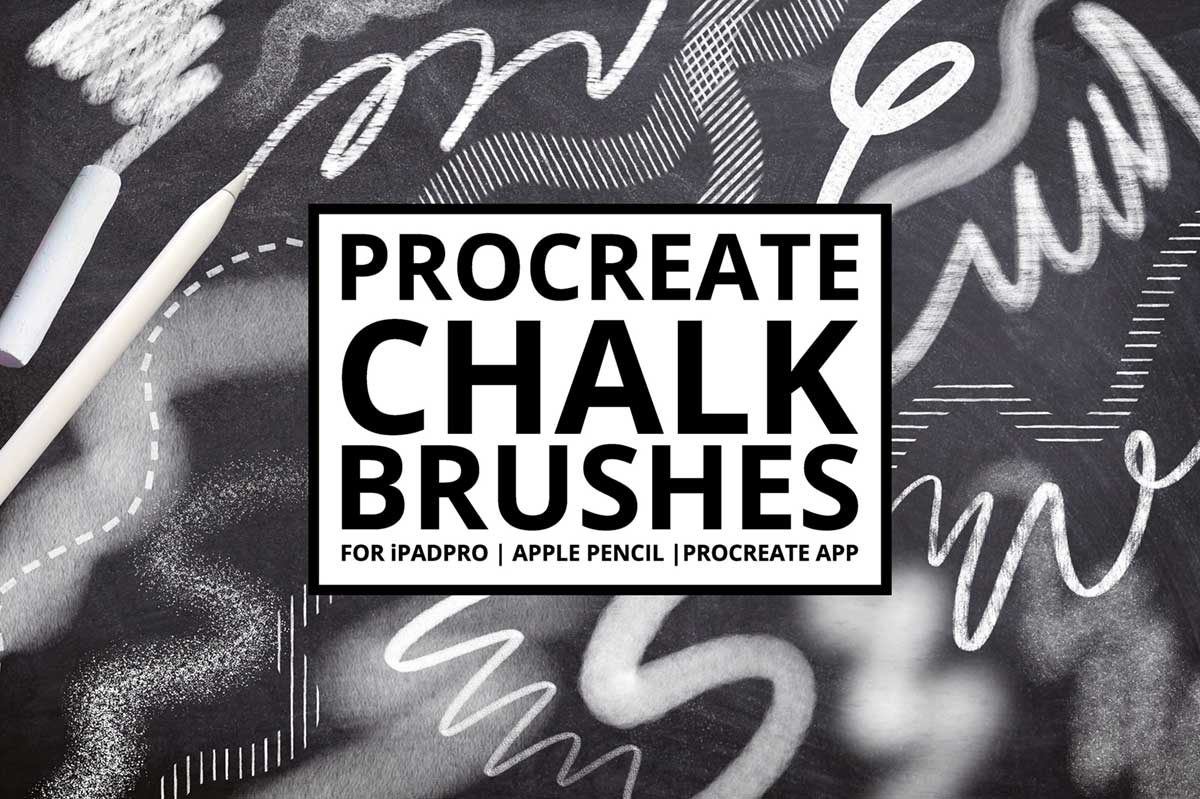 Procreate Chalk Lettering Brushes