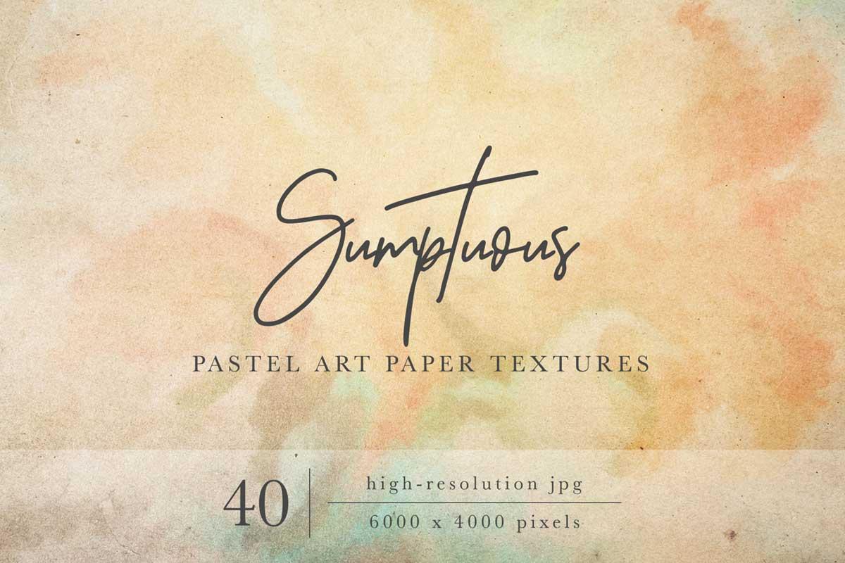 SUMPTUOUS PASTEL PAPER TEXTURES