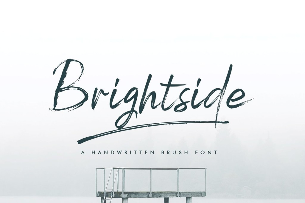 Brightside Brush Font & Extras