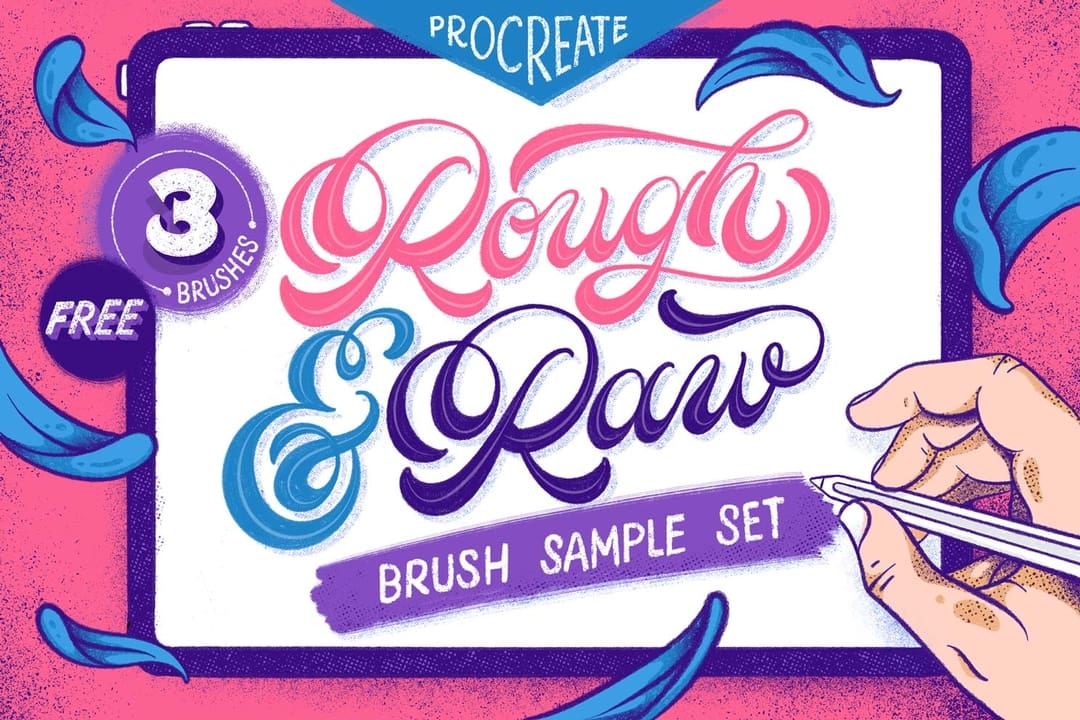 Rough & Raw Procreate Brush Set
