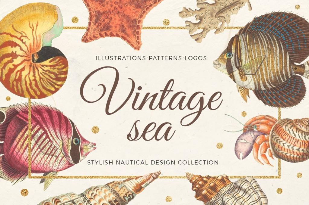 VINTAGE SEA – NAUTICAL DESIGN SET