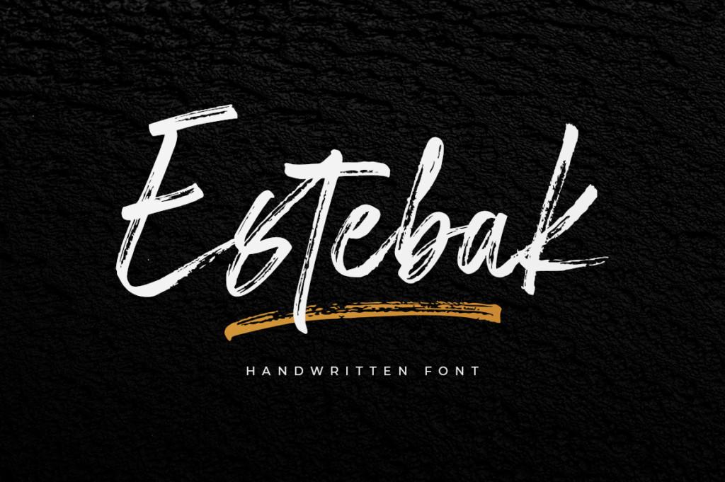 Estebak Brush Font