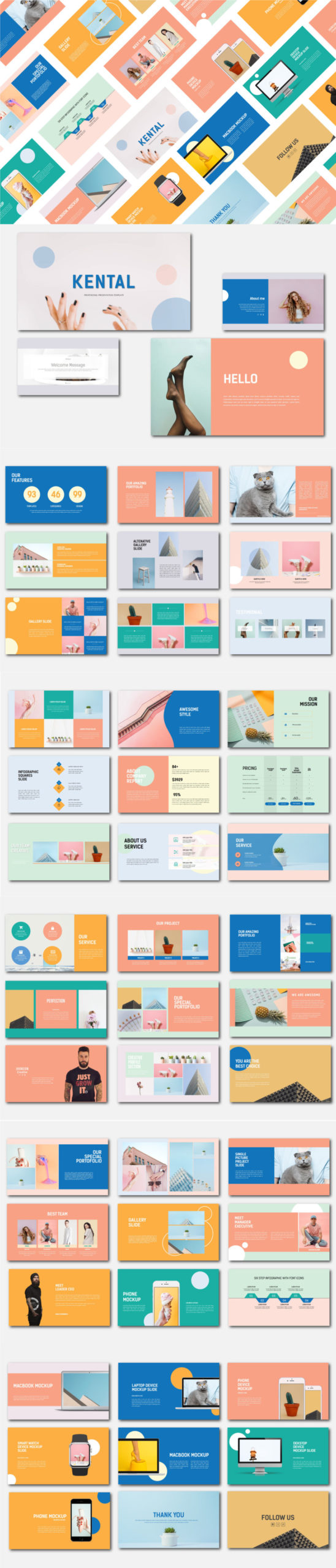 KENTAL - FREE MINIMAL PRESENTATION TEMPLATE
