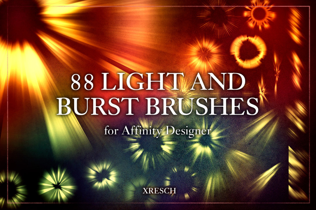 83 Light and Burst Brushes & .PNG for Affinity
