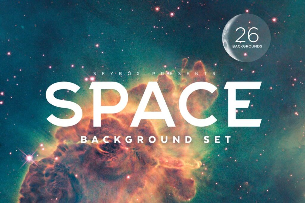 Colorful Space Background Set