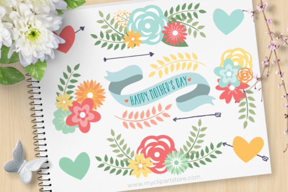 Spring Flowers Mom Clipart